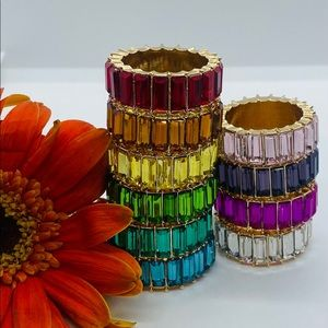 New Boho Stackable Rings with Vertical Stones